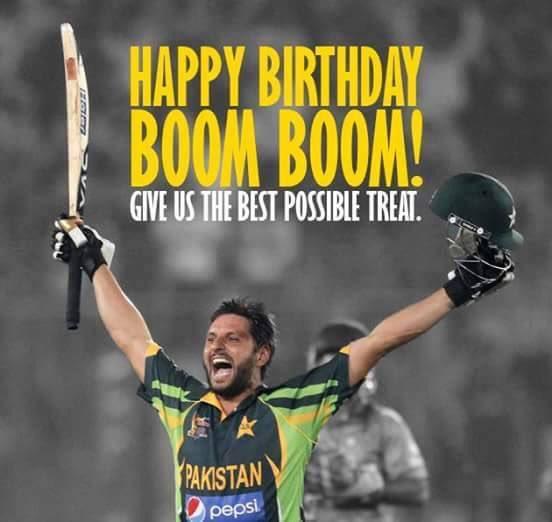 Happy Birthday to Shahid Khan Afridi.