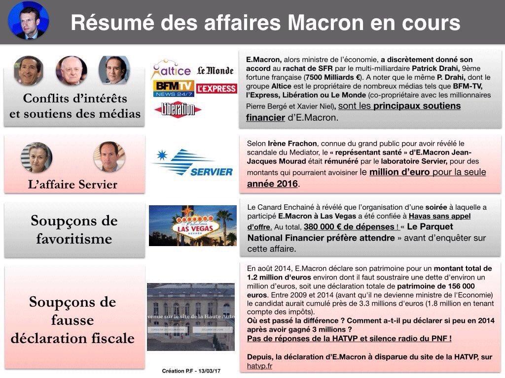 Dites donc la presse Française! Pourquoi ne pas faire état des affaires @EmmanuelMacron ? https://t.co/mCHDlZGY3J