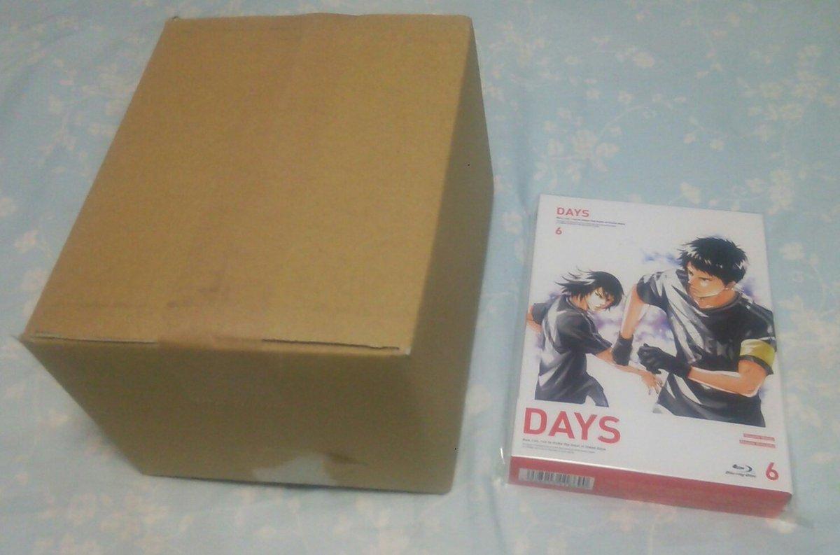 本日のお迎え其の2♪DAYS円盤の6巻♪今回も箱が小さくてホッとしましたwお迎えの品…どっちから楽しもうか悩み中です(´