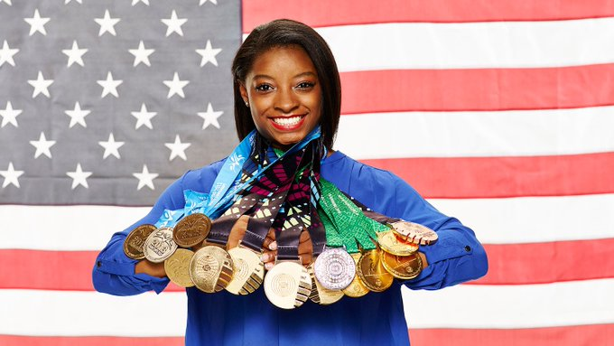 Happy Birthday to the beautiful and talented Simone Biles. The Olympic Medalist turns 20 today!