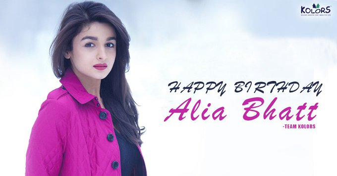 Team Kolors Wishes Alia Bhatt A Very Happy Birthday.