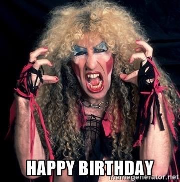 Happy Birthday Dee Snider!!! 62 but 26 on stage...