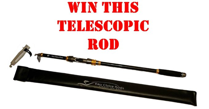 Win a Telescopic Fishing Rod by Eau Claire Fishing
