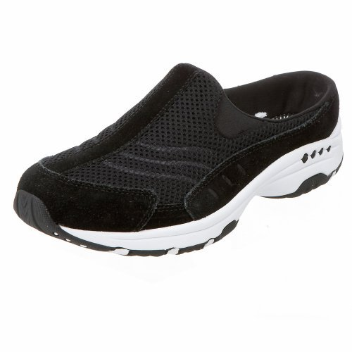 #free #shoes #running #style #giveaway Easy Spirit Women's Traveltime Clog, Black/White, 8 M US #rt