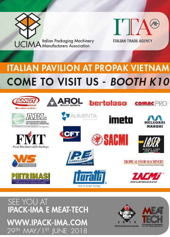 test Twitter Media - Visit the Italian pavilion at ProPak Vietnam 2017 21-23 March  #processing #packaging #trade #italy #asean https://t.co/WBPjpBY5cG