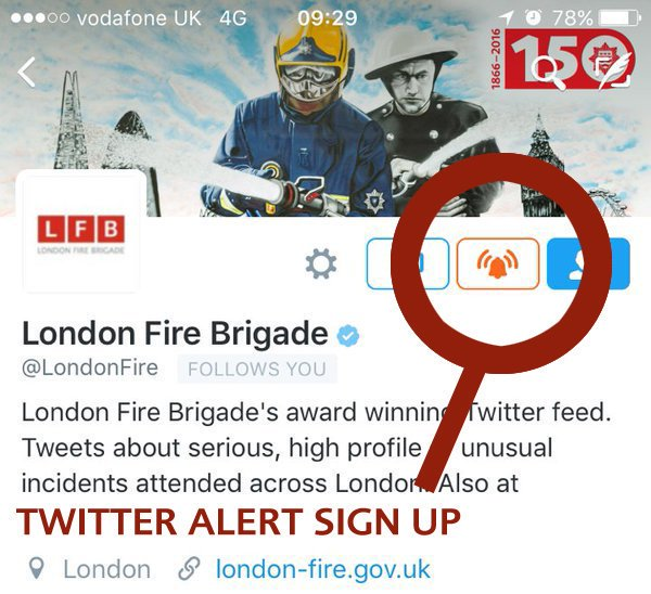 Twitter Alerts from us will provide critical information in times of crisis in #London - Activate Today