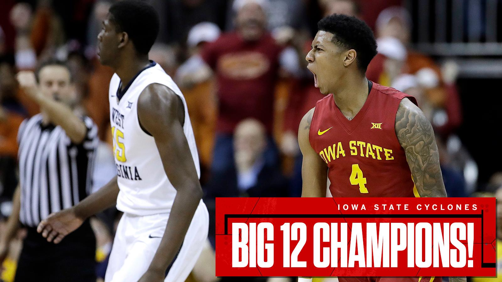 Hilton South!  The Cyclones beat West Virginia to win the Big 12 tournament title for the third time in four years. https://t.co/k21RkrTk3u