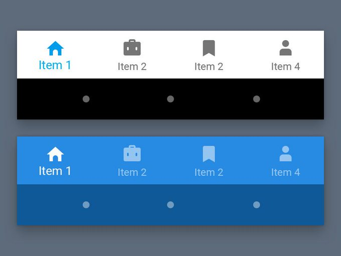 Material Bottom Nav Bar   Template freebie