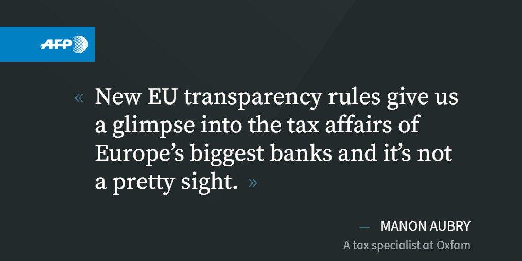 Oxfam exposes tax haven habits of EU big banks https://t.co/H2Q0xRbY5t