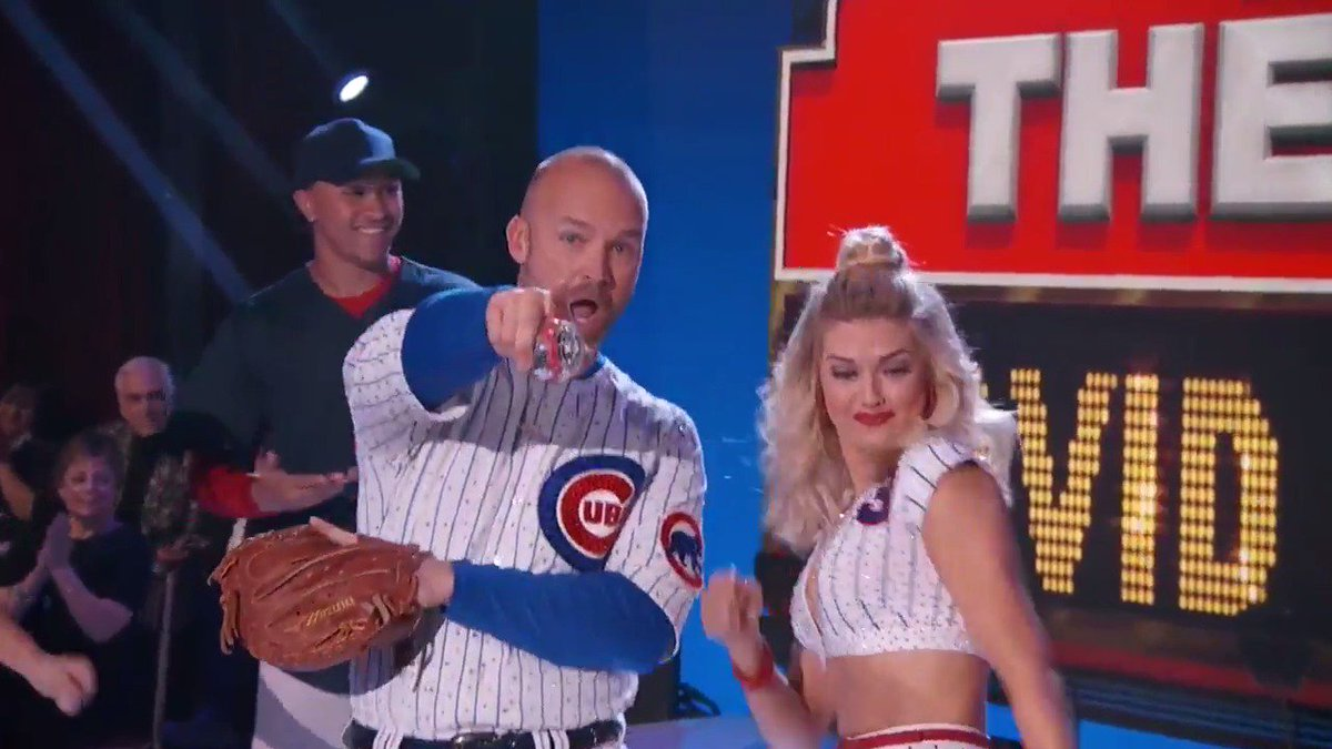 .@D_Ross3 traded in baseball cleats for dancing shoes. Watch him bust a move again tonight! #DWTS