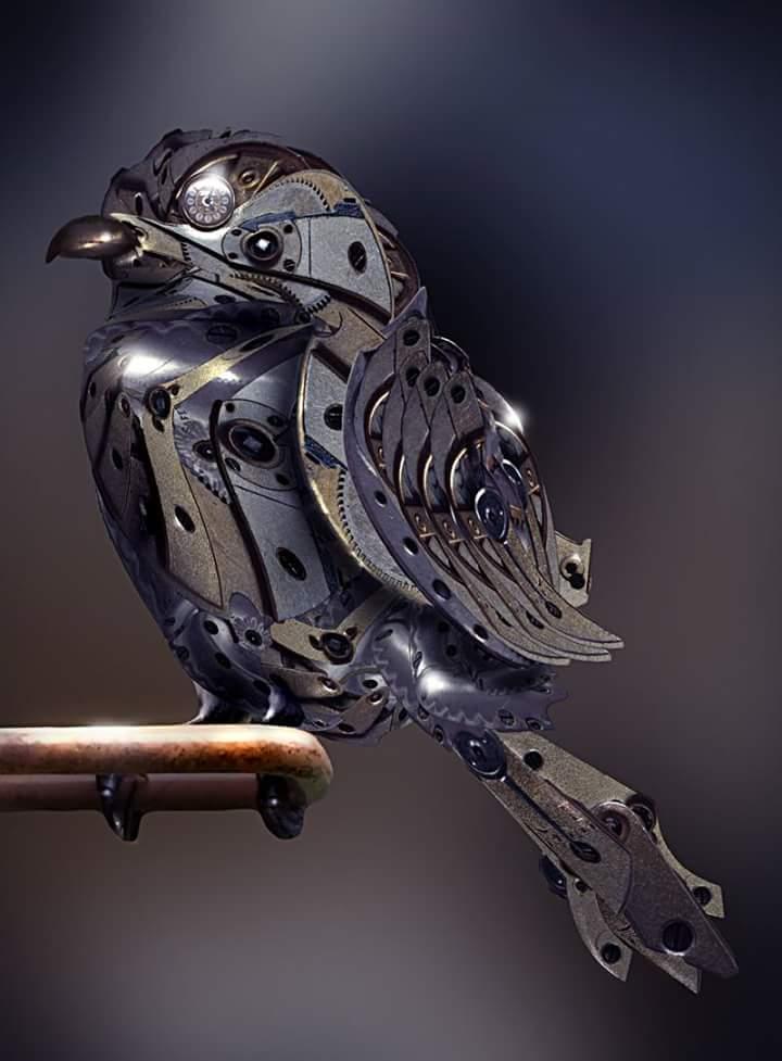 Steampunk Bird by Anthony Hearsey