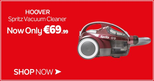 The Hoover Spritz is a compact vacuum cleaner offering all round performance - Shop now https://t.co/TW4oU5CZnV https://t.co/PUqIoM1FzV