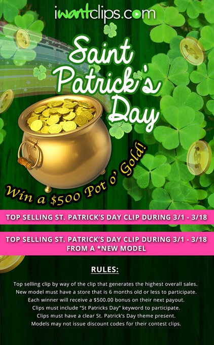 Last Day for our #StPatricksDay Contest! Will you be the lucky winner? https://t.co/0hT7BkqtSL