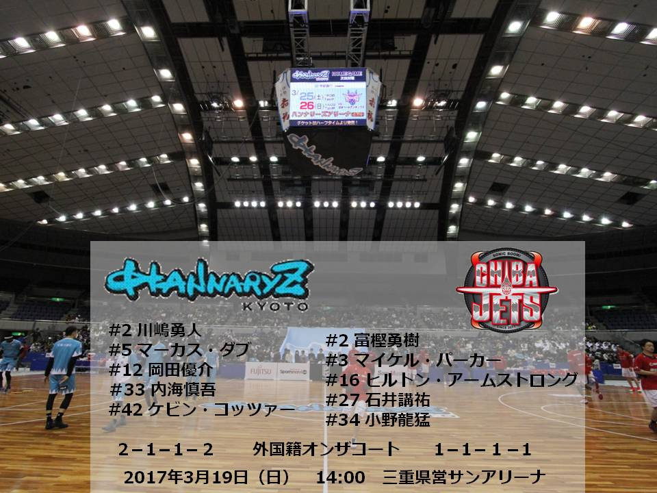 【GO all out.ダシツクセ】VS 千葉 GAME2STARTING 5#2 川嶋勇人#5 マーカス・ダブ#12