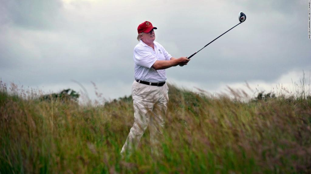 Trump, critic of Obama's golfing, regularly hits the links https://t.co/8DLYvTTFck https://t.co/lbkk5G59jw