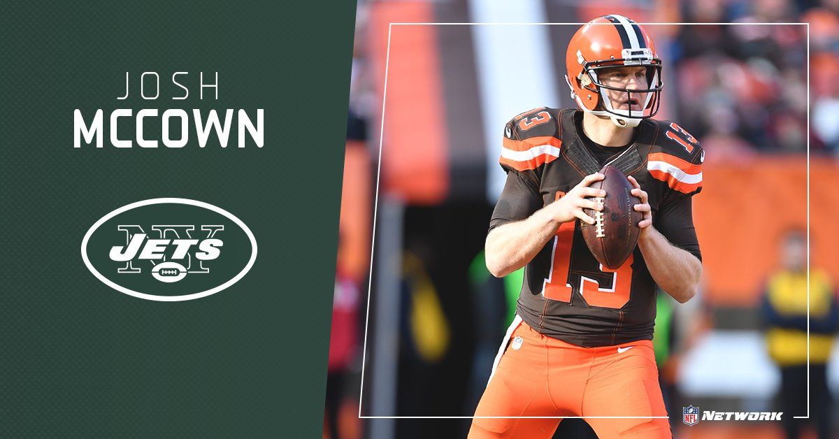 QB Josh McCown has agreed to a one-year contract with the @nyjets.