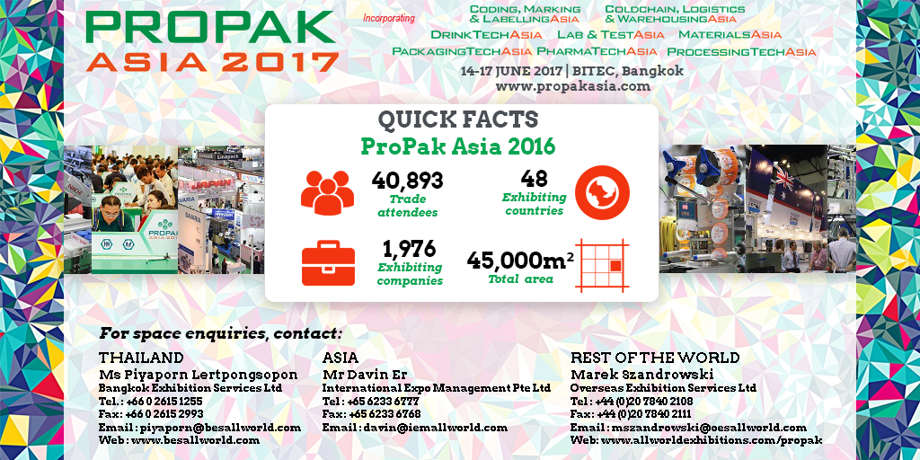 test Twitter Media - Visit the UBM Allworld booth to exhibit at our other shows including ProPak Asia 2017 https://t.co/J402J1MQAW
