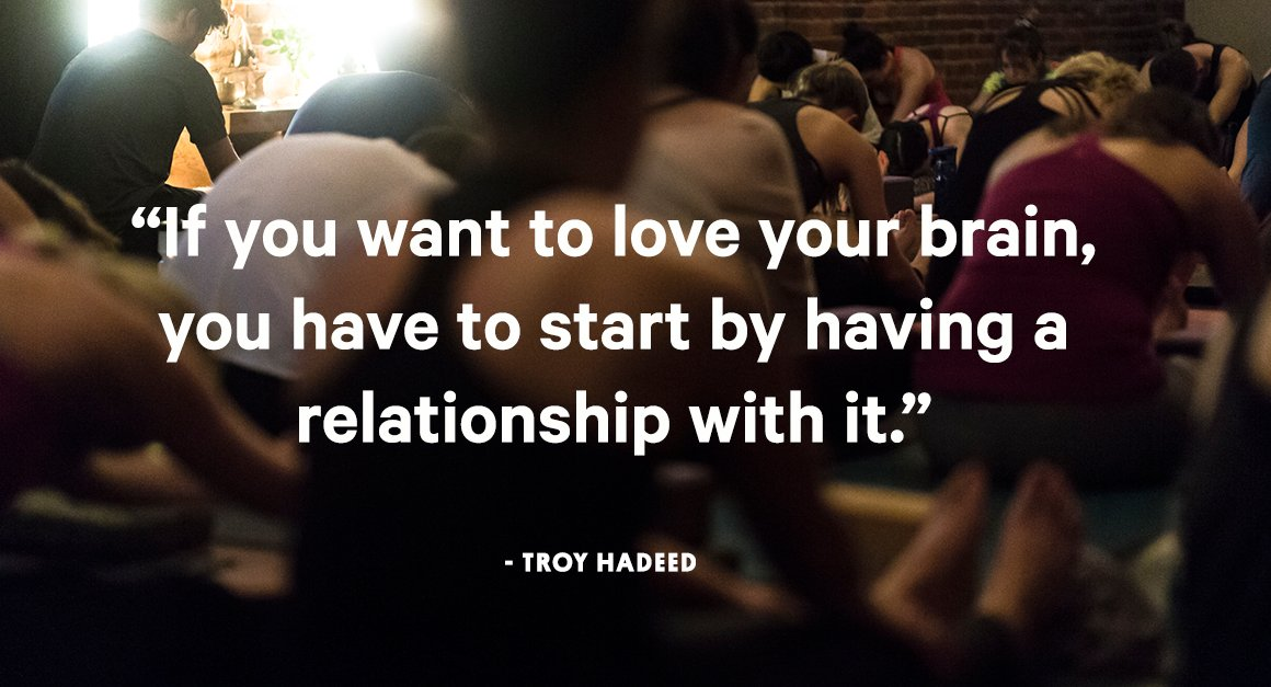 Overheard on the Vancouver leg of our @loveyourbrain tour, courtesy of @troyhadeed. #heretobe