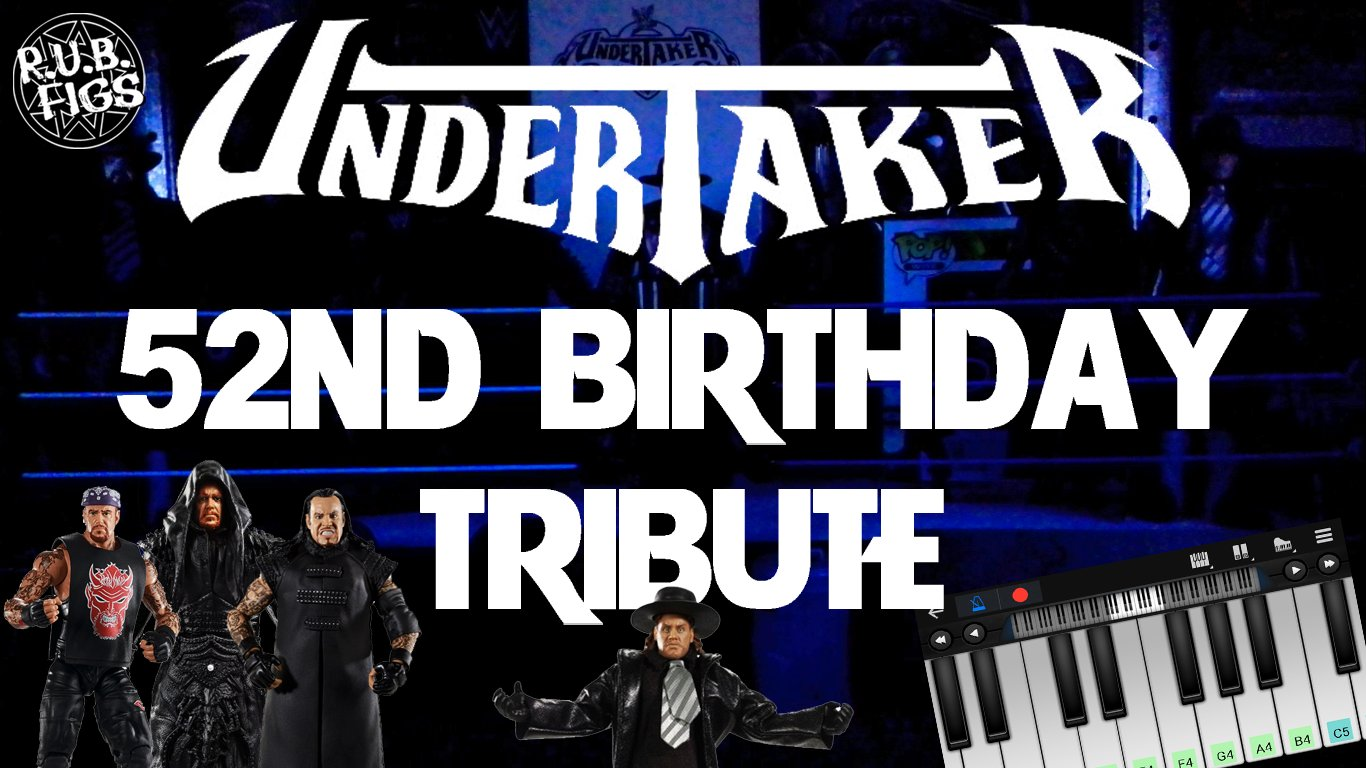 HAPPY 52ND BIRTHDAY UNDERTAKER TRIBUTE! PIANO, FIGURE COLLECTION: