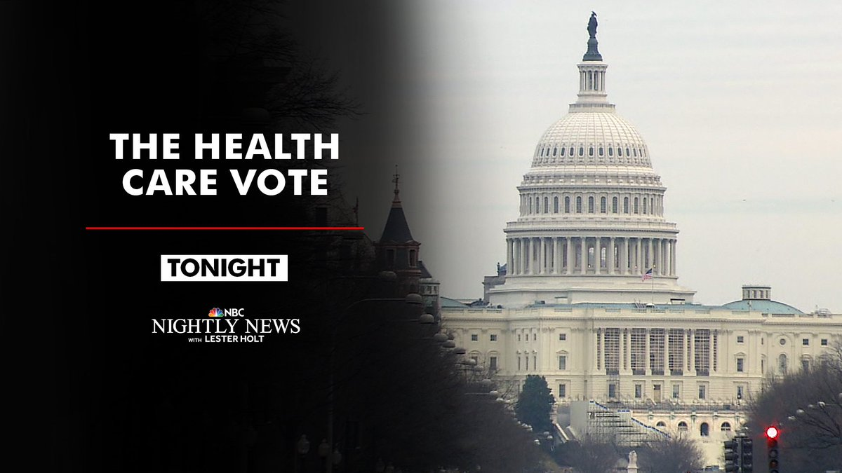 It was a busy day at the White House and Capitol Hill.   We'll recap the latest on the health care bill tonight on @NBCNightlyNews.