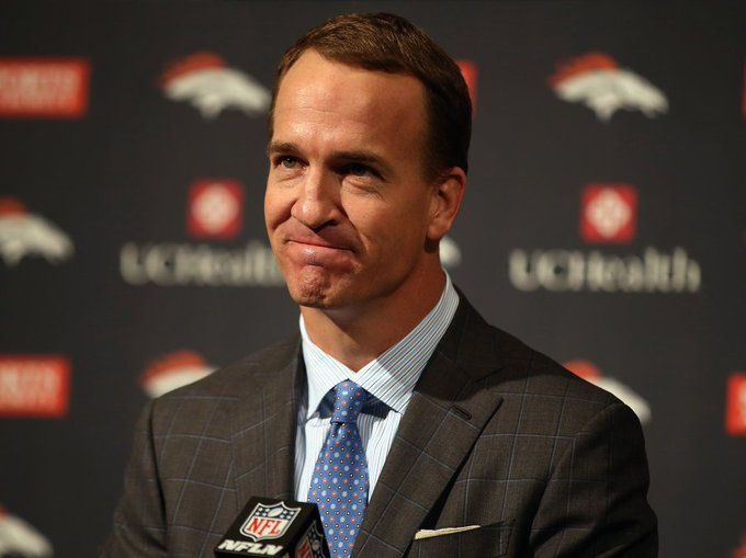 "Happy 41st birthday to ""the Sheriff\"", Number 18, Peyton Manning."