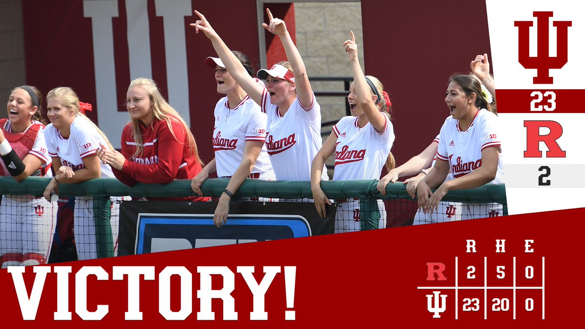 RT @IndianaSB: What a night! #IUSoftball plates 23 runs on 20 hits to take game 2 against Rutgers 👏👏 https://t.co/Lwz1tW0fBw