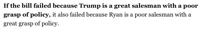 Unbelievable: media *still* peddling the Ryan myth. He's never produced  a policy idea that could withstand scrutiny https://t.co/k68MlyNB1E