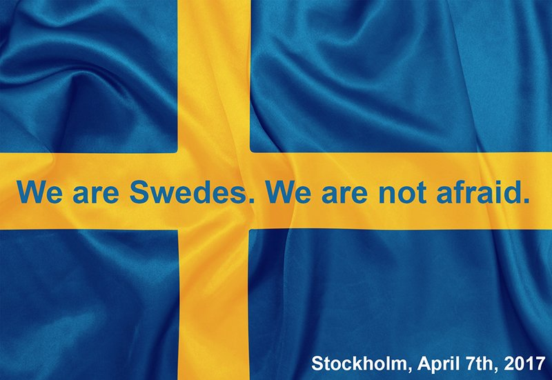 test Twitter Media - RT @AndreasSjostrom: We are Swedes. We are not afraid. #stockholm #drottninggatan #openstockholm https://t.co/ffB2O3Beit
