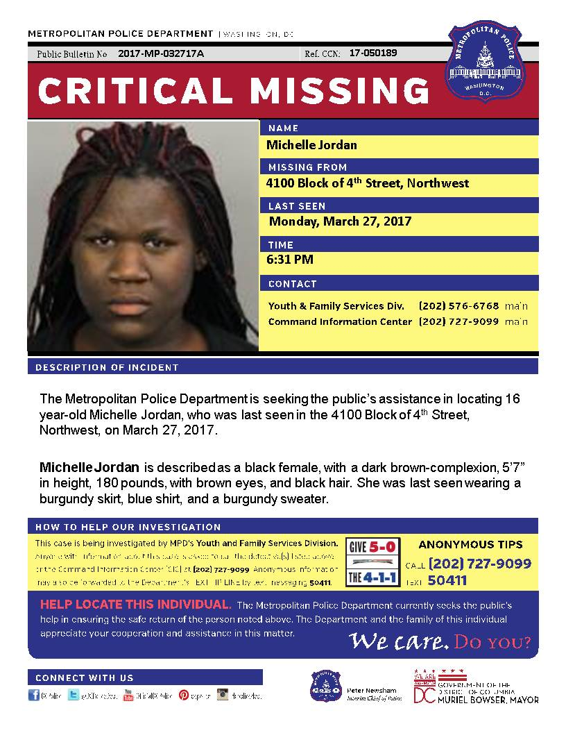 HAVE YOU SEEN MICHELLE? She is a 16-year-old girl missing from Northwest, DC. https://t.co/FByPqX1hWu #fox5dc https://t.co/n3FEr5KAfD