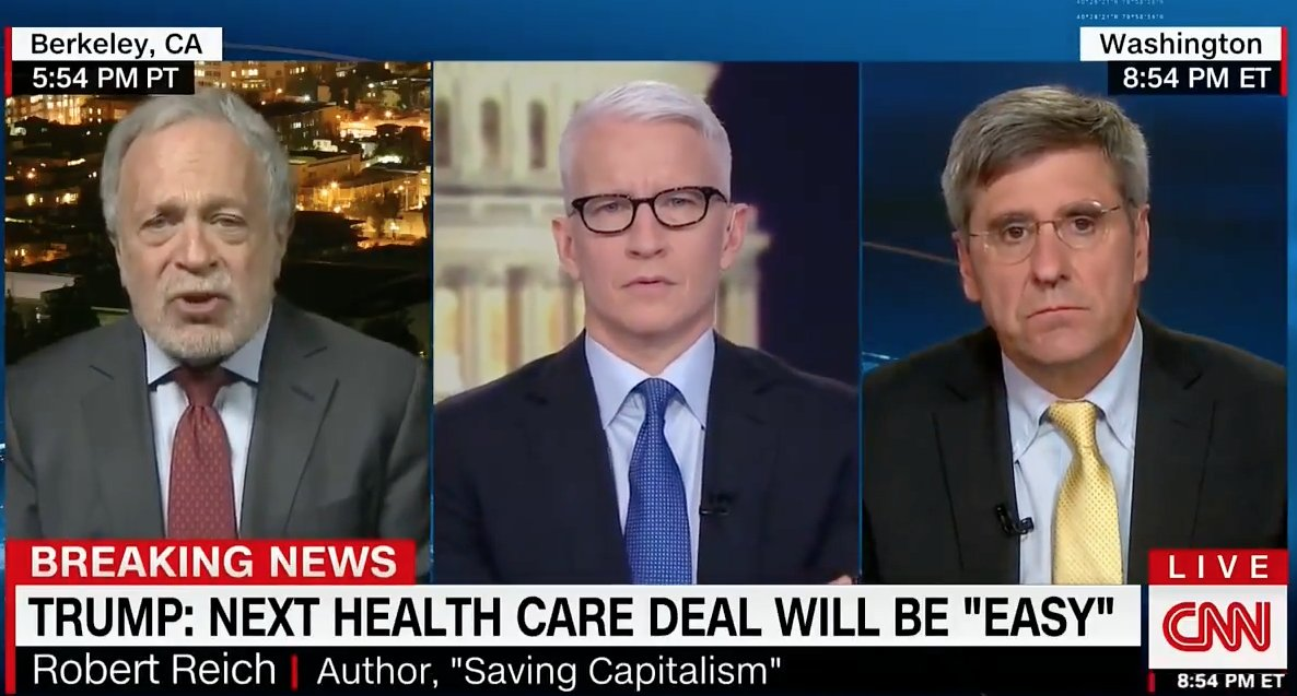 Robert @RBReich dismantles Trump's latest healthcare pledge: 'I don't think he has any credibility left' https://t.co/DfStPSZlwn