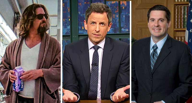 Seth Meyers reveals hilarious similarity between 'The Dude' and Trump: They both love white Russians https://t.co/ANBZonqc08