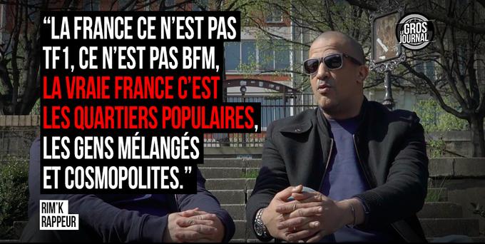 «La vraie France est cosmopolite.» - Rim'k @rimkofficiel au #GrosJournal  https://t.co/398bH5ojwO