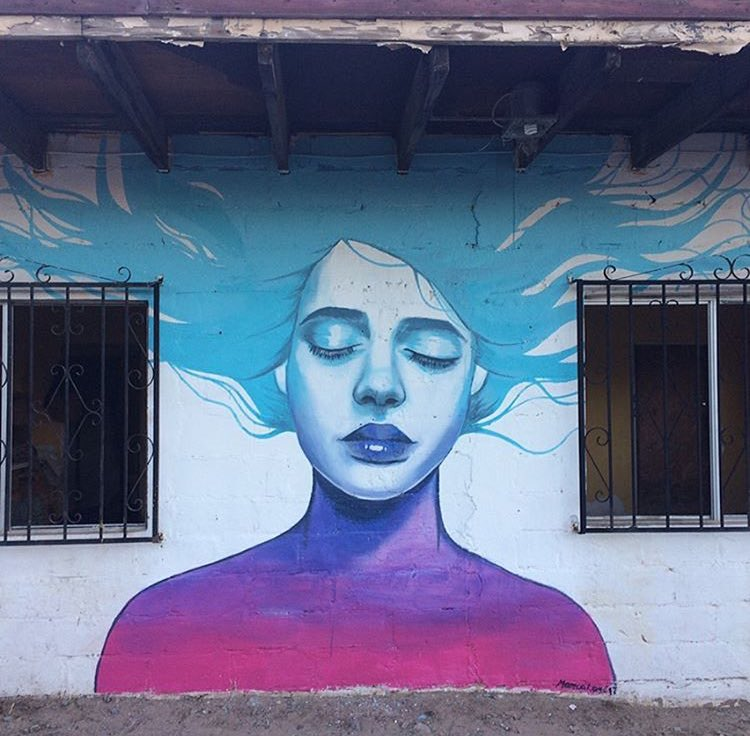 Street Art by Monica Loya found in Baja California Mexico 🇲🇽   #streetart #art #arte