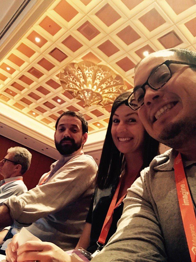 chrisjguerra: Hanging with @kpe & @emily_a_wilhoit #partnersummit #magentoimagine https://t.co/p5HMWPNrsV