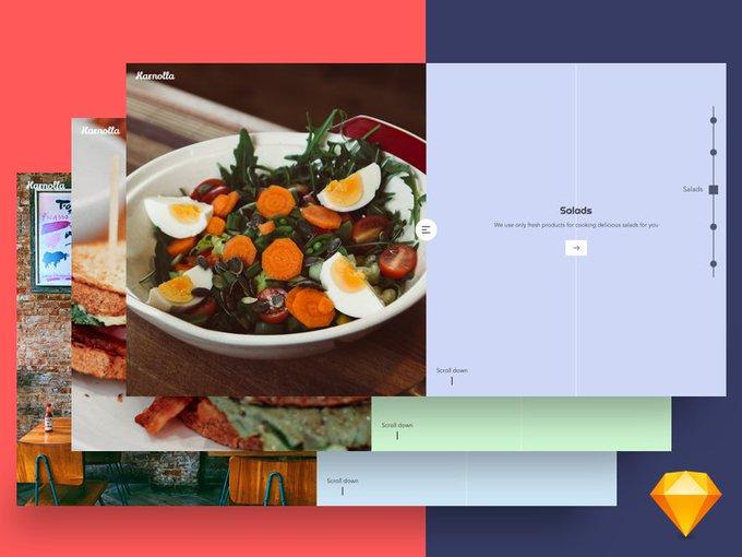 Restaurant Salad   Icons by lanars_inc freebie