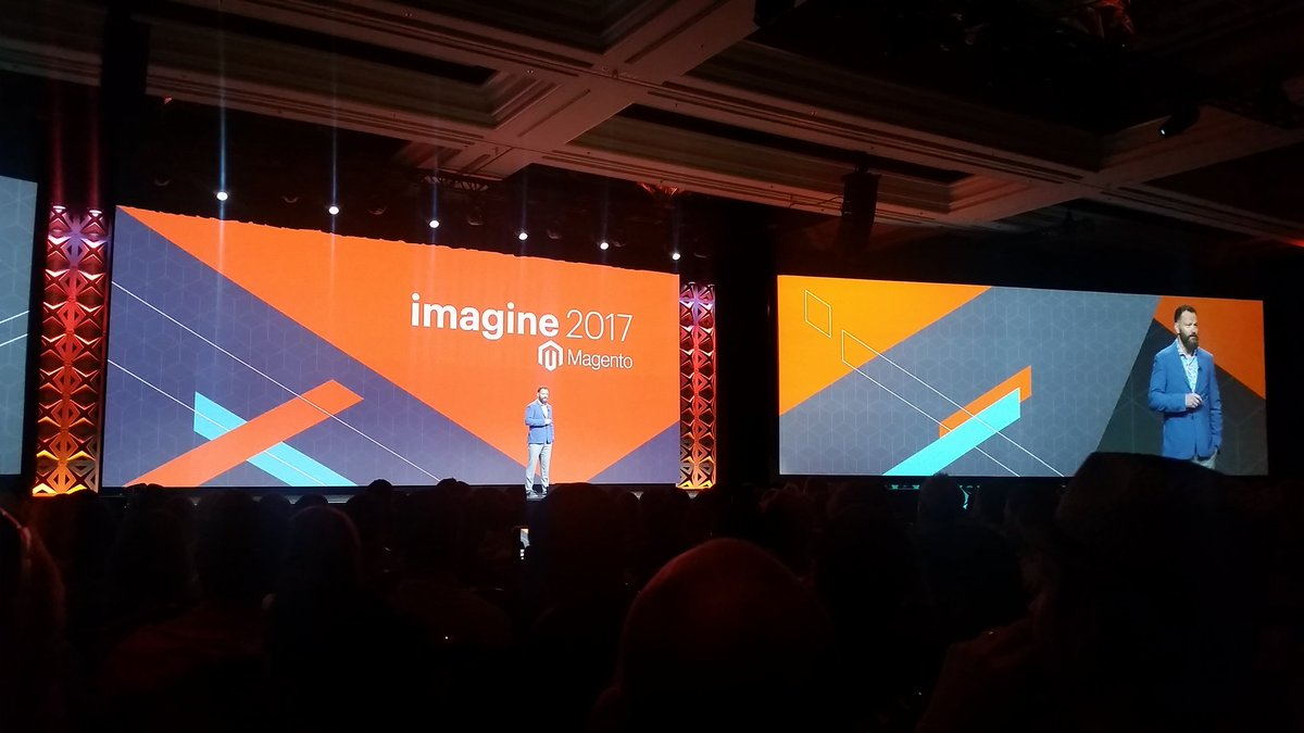 mzeis: General session has started. Magento knows how to put on a show for sure! #MagentoImagine https://t.co/VrK9GWLmzy