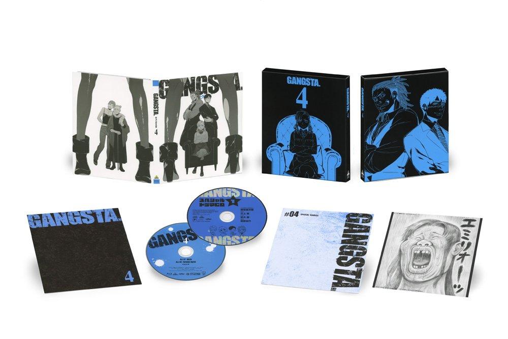 【BD&DVD】GANGSTA. 第4巻(Act.7&Act.8収録)本日発売!クリスチアーノファミリーの青が目印です…