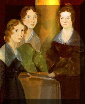 ブロンテ姉妹の肖像画です。左からアン、エミリー、シャーロット。アンはワイルドフェル屋敷の人々、シャーロットはジェーン・エ