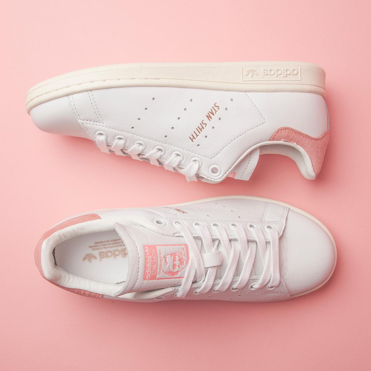 3dd3b6139463 New and Stan Smith in White Ray Pink Rose Gold. 💕