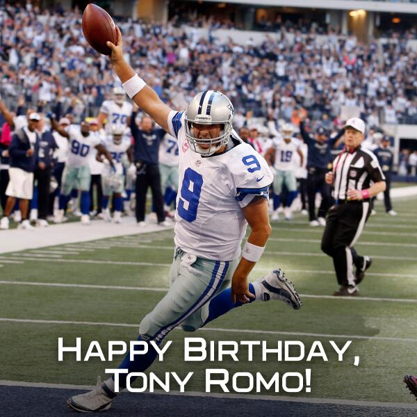Happy 37th birthday, Tony Romo!  He\ll call a couple of Cowboys games this year.