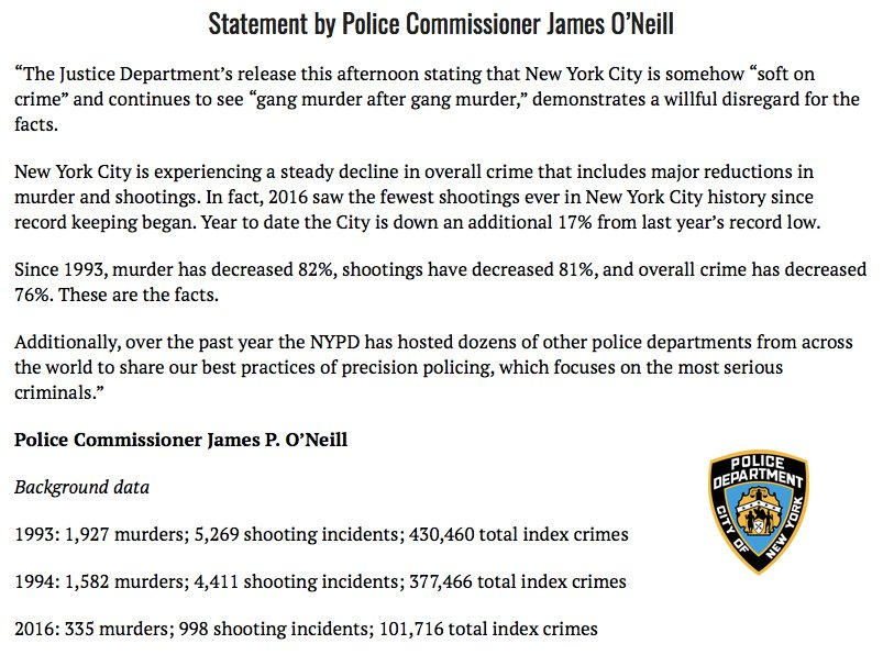 Statement from Police Commissioner James P. O'Neill  Watch media briefing➡️ https://t.co/l7D4VNFxgn https://t.co/Ga9hHgX3Vx