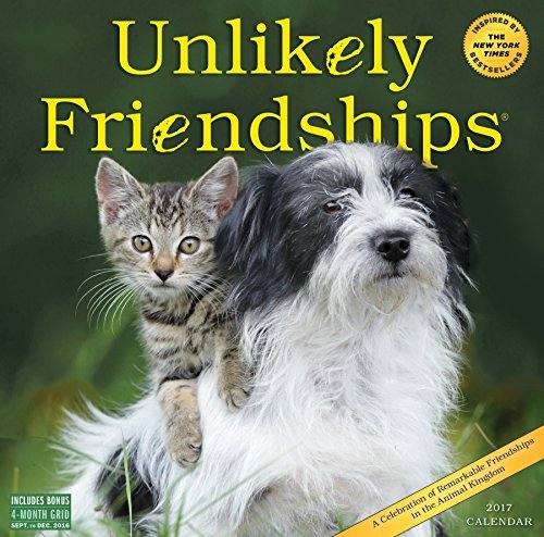 Unlikely Friendships Wall Calendar 2017 #books #news #giveaway #free