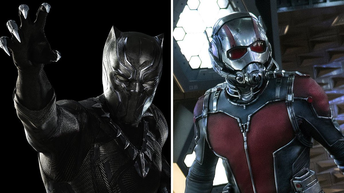 Marvel shared some first looks at BlackPanther and the AntMan sequel