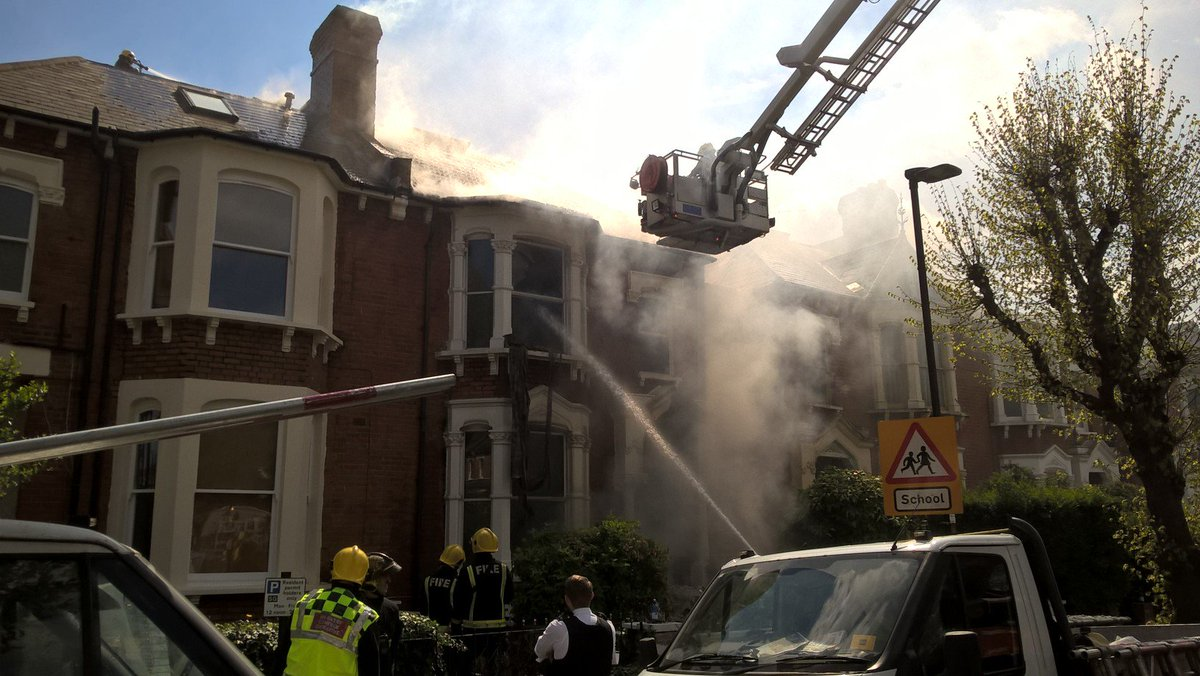 Firefighters dealt #ThisWeek with fire & explosion at  hou#StroudGreense. Basement was badly damaged https://t.co/msELTVI3xj