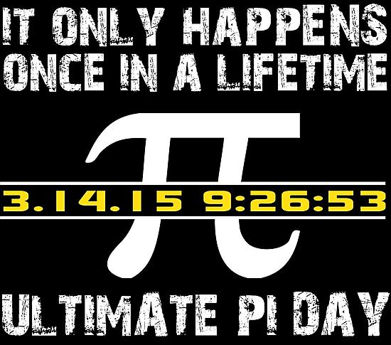 GET IRRATIONAL! At 3/14/15 9:26:53 AM today, it will be the only time this century that #Pi is represented by a date. http://t.co/NOANx13oti