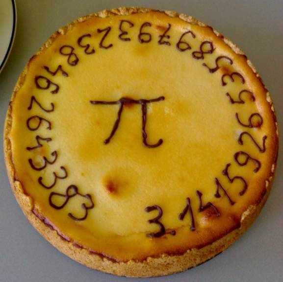 Happy Pi day! It's 3.1415 and we should serve up a big slice of awesome #science to celebrate. Slice, anyone? http://t.co/vvW4JjlBJy