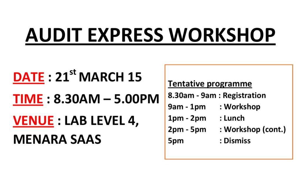 Audit Express Workshop Audit Express Workshop is