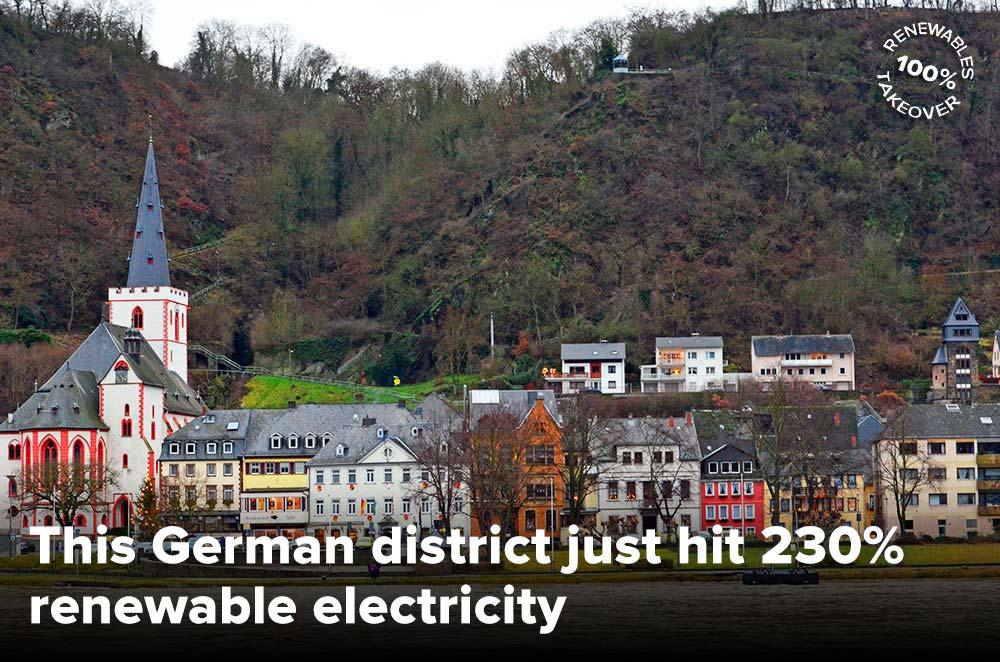 Rhein-Hunsruck, Germany hit 230% renewable electricity. Yep you read correctly. 230 per cent. http://t.co/UUmBCB85FY http://t.co/4K1lnFv9sV