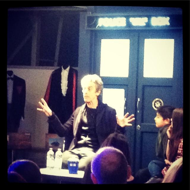 Peter Capaldi spends the Tenth Anniversary of New Who at the #DoctorWho Experience, entertaining the kids... http://t.co/iVa6UQMdVj