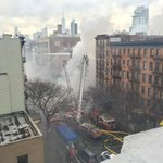 Firefighters on scene of suspected gas explosion in #EastVillage. 12 people hurt; 3 critical. No #FDNY injured. http://t.co/pzBWozsW1C